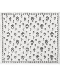 Alexander McQueen - Skull-printed Silk Scarf - Lyst