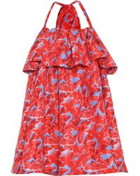 MSGM - Printed Halter Dress - Lyst