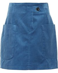 Baum und Pferdgarten Smita Corduroy Miniskirt - Blue
