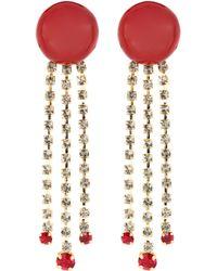 Marni - Crystal Embellished Resin Earrings - Lyst