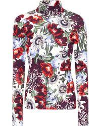 Erdem - Kelly Floral-printed Turtleneck Top - Lyst