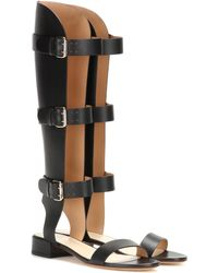 Francesco Russo - Leather Gladiator Sandals - Lyst