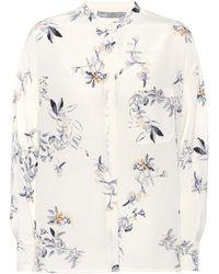Vince - Printed Silk Shirt - Lyst