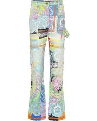 Versace Printed Denim Jeans