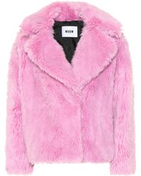 MSGM - Faux Fur Jacket - Lyst