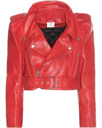 Vetements - Cropped Leather Jacket - Lyst