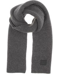 Acne | Bansy Face Knitted Wool Scarf | Lyst