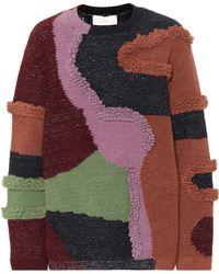 Peter Pilotto - Patchwork Cotton-blend Sweater - Lyst