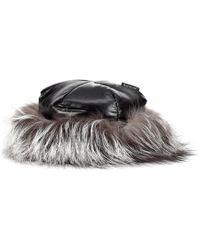 19d6a9b4309 Moncler - Fur-trimmed Hat - Lyst