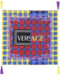 Versace - Exclusive To Mytheresa. Com – Tasseled Silk Twill Scarf - Lyst