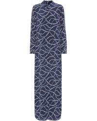 Equipment - Star-printed Silk Shirt Dress - Lyst