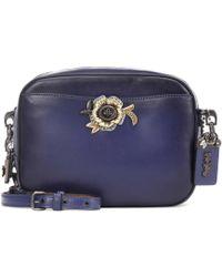 COACH - Tea Rose Leather Shoulder Bag - Lyst