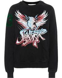 Givenchy - Printed Stretch Cotton Sweatshirt - Lyst