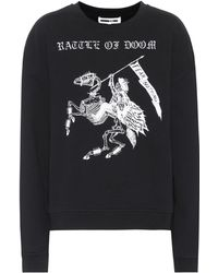 McQ - Fear Nothing Cotton Sweatshirt - Lyst