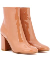 Gianvito Rossi - Exclusive To Mytheresa. Com – Rolling 85 Patent Leather Ankle Boots - Lyst