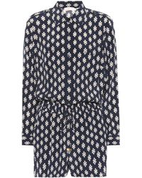 Tory Burch - Brigitte Printed Silk Playsuit - Lyst