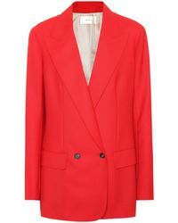 The Row - Blazer croisé en laine - Lyst
