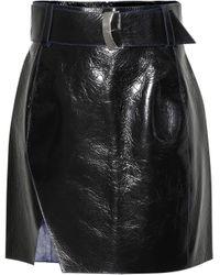 Mugler - Leather Miniskirt - Lyst