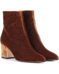 Etro - Velvet Ankle Boots - Lyst