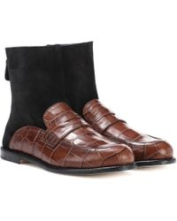 Loewe - Loafer-style Ankle Boots - Lyst