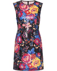 Diane von Furstenberg - Sequinned Sleeveless Minidress - Lyst