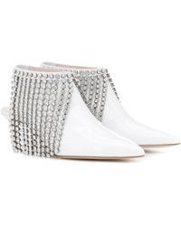 Christopher Kane - Crystal Patent Leather Ankle Boots - Lyst
