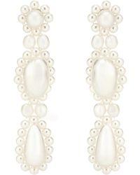 Simone Rocha - Pendientes con perlas artificiales - Lyst