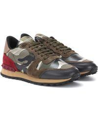 Valentino - Sneakers Camouflage aus Veloursleder - Lyst
