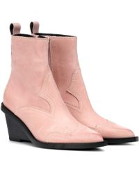 MM6 by Maison Martin Margiela Suede Cowboy Boots