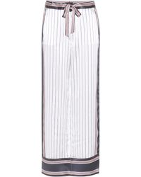 Equipment By Kate Moss - Avery Striped Silk Trousers - Lyst