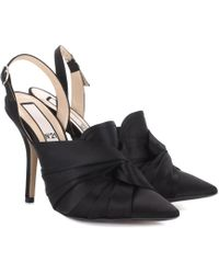 N°21 - Satin Slingback Court Shoes - Lyst