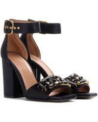 Marni - Crystal-embellished Satin Sandals - Lyst