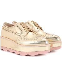 Prada - Leather Platform Oxford Shoes - Lyst