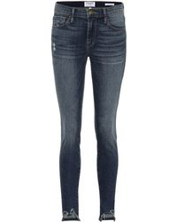 FRAME - Jeans Jeanne Front Chew skinny - Lyst
