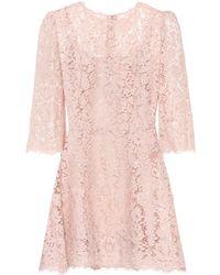 Dolce & Gabbana - Kleid aus Spitze - Lyst