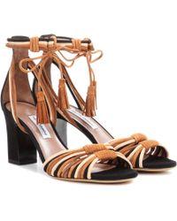 Tabitha Simmons - Sandaletten Jamie aus Veloursleder - Lyst