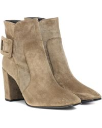 Roger Vivier - Polly Suede Ankle Boots - Lyst