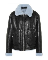 McQ - Reversible Leather Shearling Jacket - Lyst