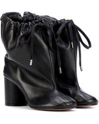 Maison Margiela - Oversized Leather Ankle Boots - Lyst
