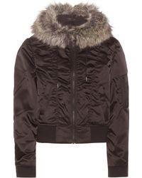 Yeezy - Faux Fur-Trimmed Satin Jacket - Lyst