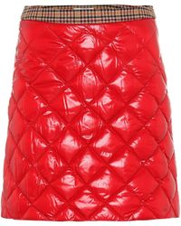 Moncler - Quilted Mini Skirt - Lyst