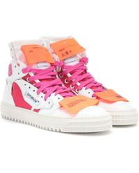 Off-White c/o Virgil Abloh - Exclusive To Mytheresa – Leather Sneakers - Lyst