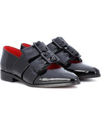Ganni - Idette Patent Leather Loafers - Lyst