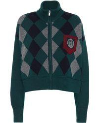 Miu Miu - Veste en laine à carreaux - Lyst