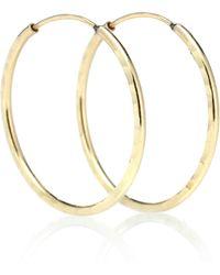 Loren Stewart - Petite Sparkle 14kt Gold Hoop Earrings - Lyst