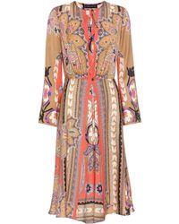 Etro - Printed Wool Dress - Lyst