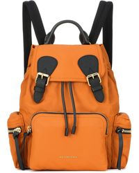 Burberry - The Medium Leather-trimmed Backpack - Lyst