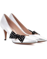 Marc Jacobs - Metallic Leather Court Shoes - Lyst