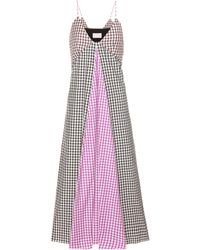Christopher Kane - Exclusive To Mytheresa. Com – Gingham Cotton Dress - Lyst