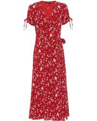 Polo Ralph Lauren - Printed Crêpe Wrap Dress - Lyst